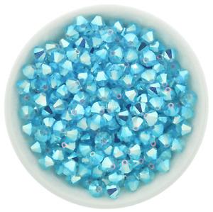 Aqua Bohemica AB2X 3mm, 4mm, 6mm Preciosa Crystal Bicones