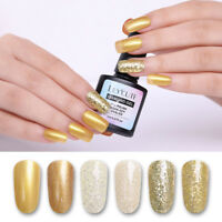 8ml LILYCUTE Gold Glitter Sequined Nagel Gellack Soak Off Nail UV Gel Maniküre