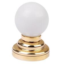 1:12 Dolls House Globe White Ceiling LED Light Lighting Lamp with Battery E6U7