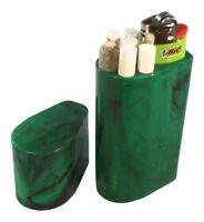 Smoke Space - Cigarette Case - Bic Lighter - Smoking Accessories - (Green/Black)