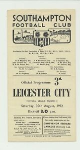 Southampton VS Leicester City 1950's 1960's 1970's lot of 12 programs & Charlton