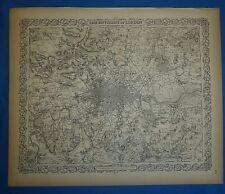 Vintage 1859 Colton's Atlas Map ~ LONDON, ENGLAND ~ Old Antique & Authentic