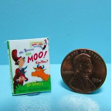 Dollhouse Miniature Replica of Book Dr Suess Mr Brown Can Moo! Can You? ~ B043