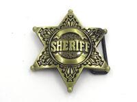 The Walking Dead King County Sheriff Metal Buckle Belt Men's Belt Buckle Golden