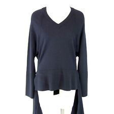 Marni Pull Femmes Bleu Foncé Taille It 40 De 34 Laine Vierge Soie Np 539 Neuf