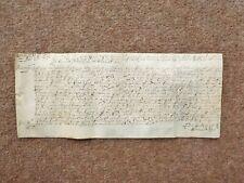 1657 Manor of Duffield Derbyshire 17th century hand written Vellum Deed Document