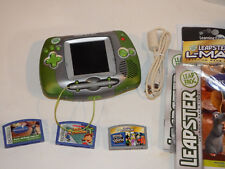LeapFrog Leapster Learning System Green/Silver W/ 3 Games - Disney Ratatouille