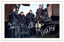 CAST X 4 GAME OF THRONES SIGNED 6x4 PHOTO PRINT AUTOGRAPH
