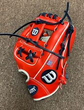 "Wilson A2000 1788 11.25"" Custom USA Infield Baseball Glove - Red White Blue"