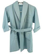 Authentic HERMES Coat Jacket Wool Angora Belt Kid's #2 Light Blue Rank AB