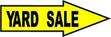 Yard Sale/Estate Sale arrow pointing sign with stake  FREE SHIPPING