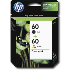 2017 IN BOX HP 60 Black + Color Genuine Combo Pack Ink C4740 C4795