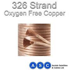 10m Altavoz Cable libre de oxígeno Ofc 4.3 mm 326 Strand pesado deber Studio Grade