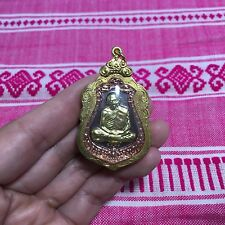 High Quality Lp Tim Solid Buddha Amulet Pendant Luck Rich Protect B.E.2557