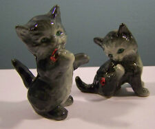 2 Geobel Kitten's with Ladybugs Figurines CK45A B W. Germany