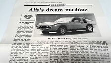 1975 ALFA ROMEO MONTREAL Australian ROAD TEST Dealer Handout   VERY RARE