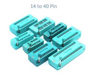 Universal ZIF/ZIP/DIP IC Logic Chip Socket 14,16,18,20,24,28,32,40 pins UK