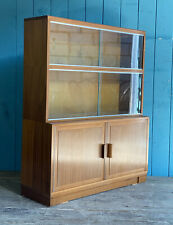 Mid Century Minty Sectional Bookcase Glazed Sliding Doors Sideboard DELIVERY*