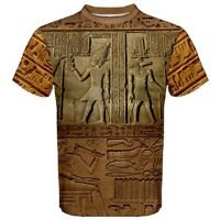 Hieroglyphics Ancient Egypt Artifact aztec Egyptian hieroglyphs T-SHIRT H56