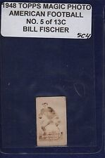 BILL FISCHER 1948 Topps Magic Photos Hocus Focus Football #5C RC Notre Dame (5C4