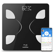 MULTIFUN Body Composition Smart Scale Fat Monitor Bluetooth App iOS Android NEW