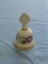 Mini Bell - Bone China England Crown Porcelain - Purple Flowers with Gold Trim