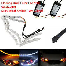 2x Switchback LED Strip Light with Sequential Turn Signal For Headlight Retrofit