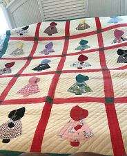 """Old (Sunbonnet Sue ) Beautiful Vintage Quilt """"86x70"""""""