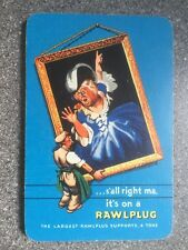 "VINTAGE ""s'all right Ma, it's on a RAWPLUG"" playing cards DE LA RUE 1960 v nice"