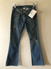 New $172 Ladies True Religion Bobby Flare Jeans Size 27 x 34