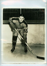CARL LISCOMBE 1939-40 INDIANAPOLIS REDWINGS AHL ORIGINAL TEAM ISSUE 8x10 PHOTO