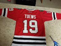 Youth Stitched Chicago Blackhawks Jersey Johnathan Toews Sz S /M Reebok...