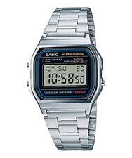 CASIO Montre Quartz Digital Cadran Argent Bracelet Métal Argent Unixese Vintage