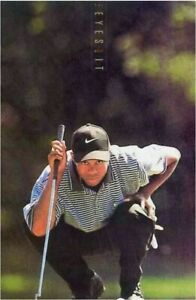 TIGER WOODS The Eye Have it NIKE Poster #5520 Vintage SEALED Roll