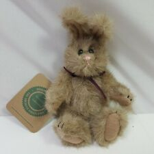 Boyds Bears Plush Rabbit Small Brown Jointed Stripe Ribbon Nwt Easter 7.5in Tall