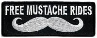 FREE MUSTACHE RIDES - IRON or SEW ON PATCH