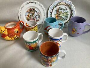 Winnie The Pooh Disney Mug Collection and Plates Vintage Modern