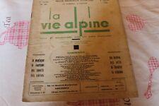 LA VIE ALPINE 20  revue du régionalisme dans les alpe française 1929