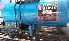G SCALE OIL TANKER  BLUE CARGO TANK GARDEN ROLLING STOCK COACH TRAIN 45mm GAUGE
