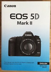Canon EOS 5D Mark II Manual - Printed & Professionally Bound Size A5 - NEW