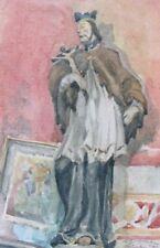 "Albert Gustav Bunge 1893-1967 / Aquarell ""heiliger Nepomuk"" / 1923 / München"