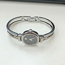 Movado Ladies Harmony Watch Museum Black Dial Stainless Steel