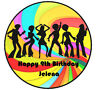 DISCO BALL Personalised Edible WAFER PAPER Birthday Cake Decoration Topper Image