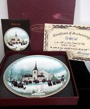 P. Buckley Moss 'Christmas Carol' Ltd. Edition Plate