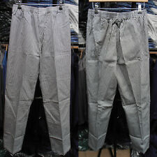 More details for chef's care blue check chef trousers – xs to s