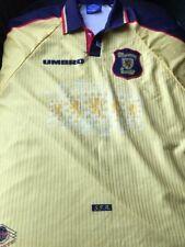 Vintage Scotland 1996-98 Away Umbro Yellow Football Shirt Xxl