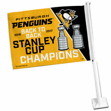 Pittsburgh Penguins 2017 NHL Stanley Cup Champions Car Auto Window Flag