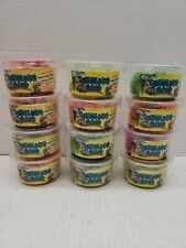 Lot of 12 Kinetic Tumbling Sand 3 oz Tubs Various Colors for Ages 4 and up