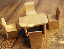 Vintage Wooden Dolls' House Dining Room Furniture 1/16th Scale Dol Toi? Barton?