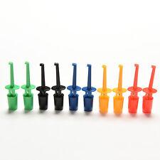 New Multi-color 10 Pcs Mini Test Hook Clip Test Probe Testing SMD Grabber WTNA